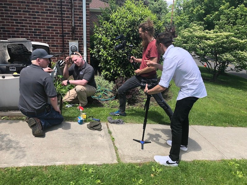 behind the scenes - local seo focused video shoot