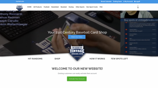 vintage breaks site design early preview