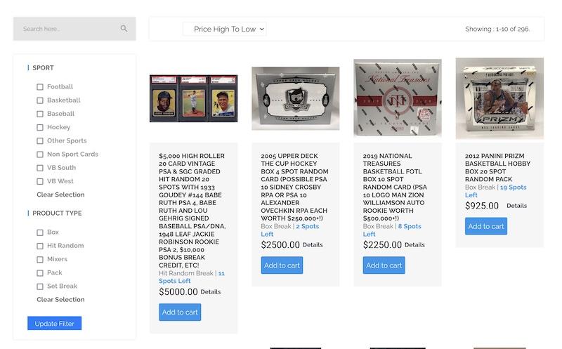 vintage breaks website engine